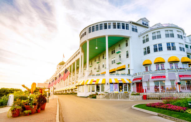grand hotel - mackinac island stock photos and pictures