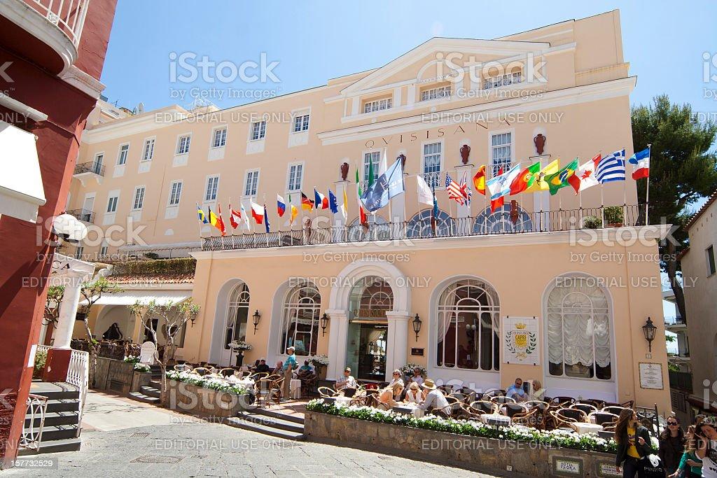 Grand Hotel Grand Hotel Quisisana Capri Italien Stockfoto Und Mehr