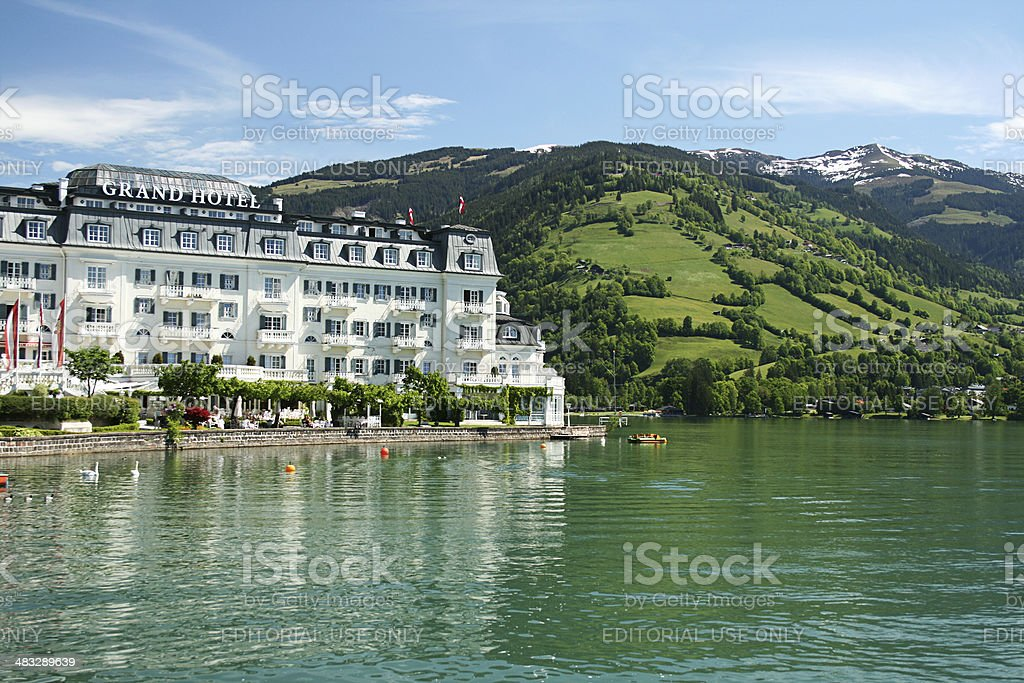 Grand Hotel , Zell Am See, Austria stock photo