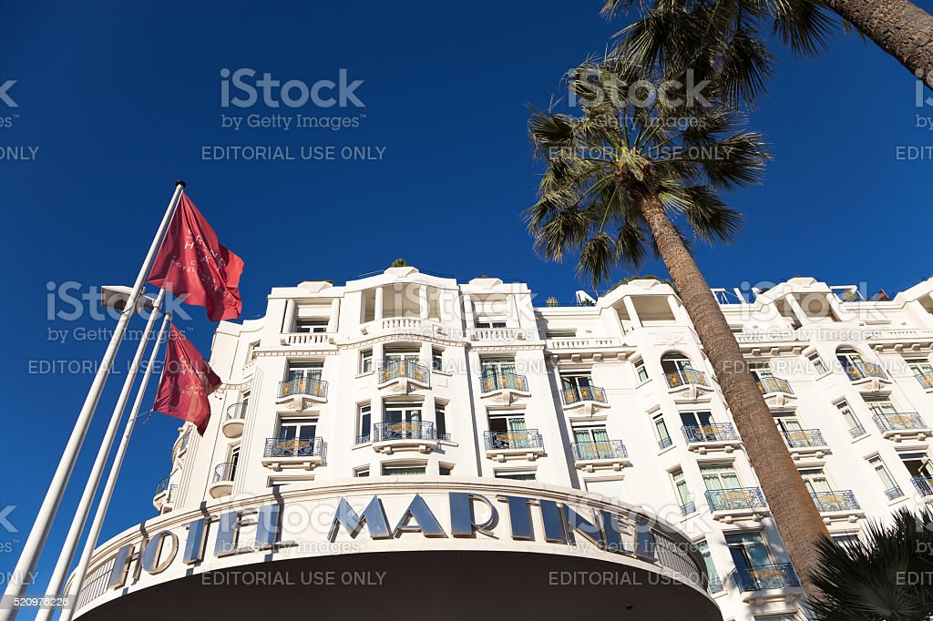 Grand Hyatt Hotel Martinez, Cannes, Cote d'Azur,  France stock photo