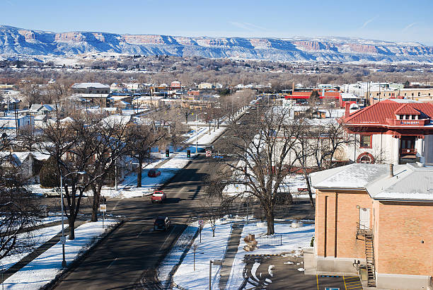 Grand Junction in Winter stock photo