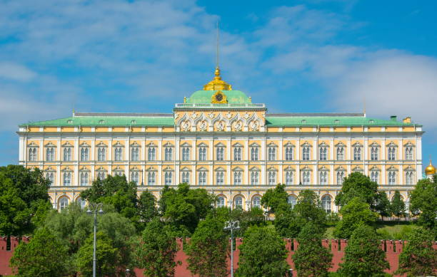 Grand Kremlin palace in Moscow, Russia Grand Kremlin palace in Moscow, Russia kremlin stock pictures, royalty-free photos & images