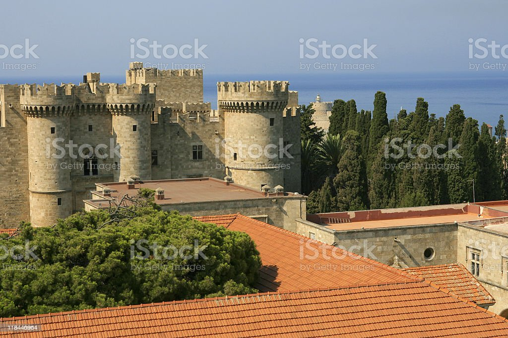 Grand Master's palace on Rhodes stock photo