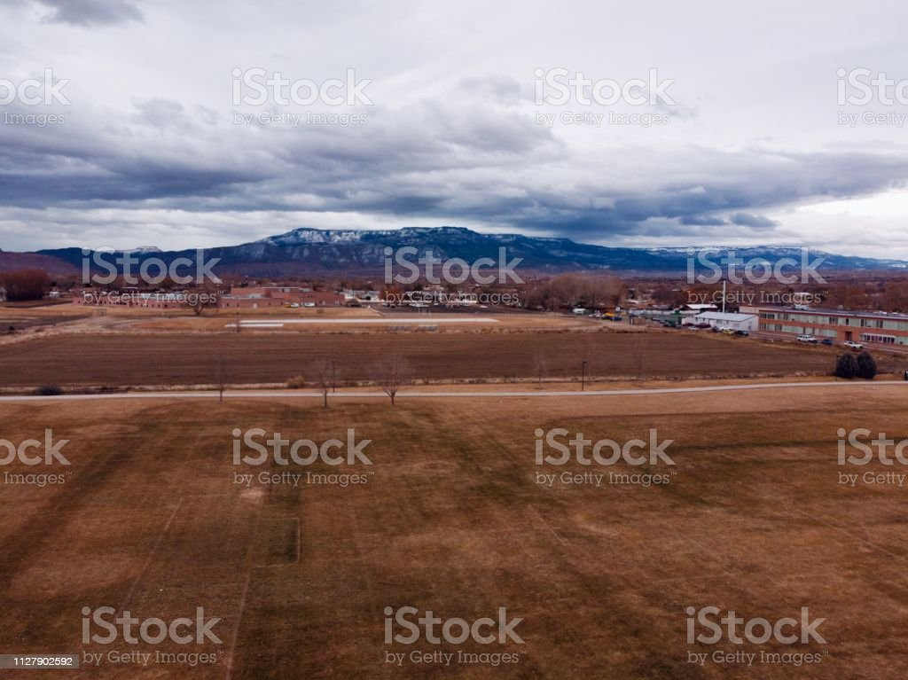 Grand Mesa Besieged by Foreboding Clouds stock photo