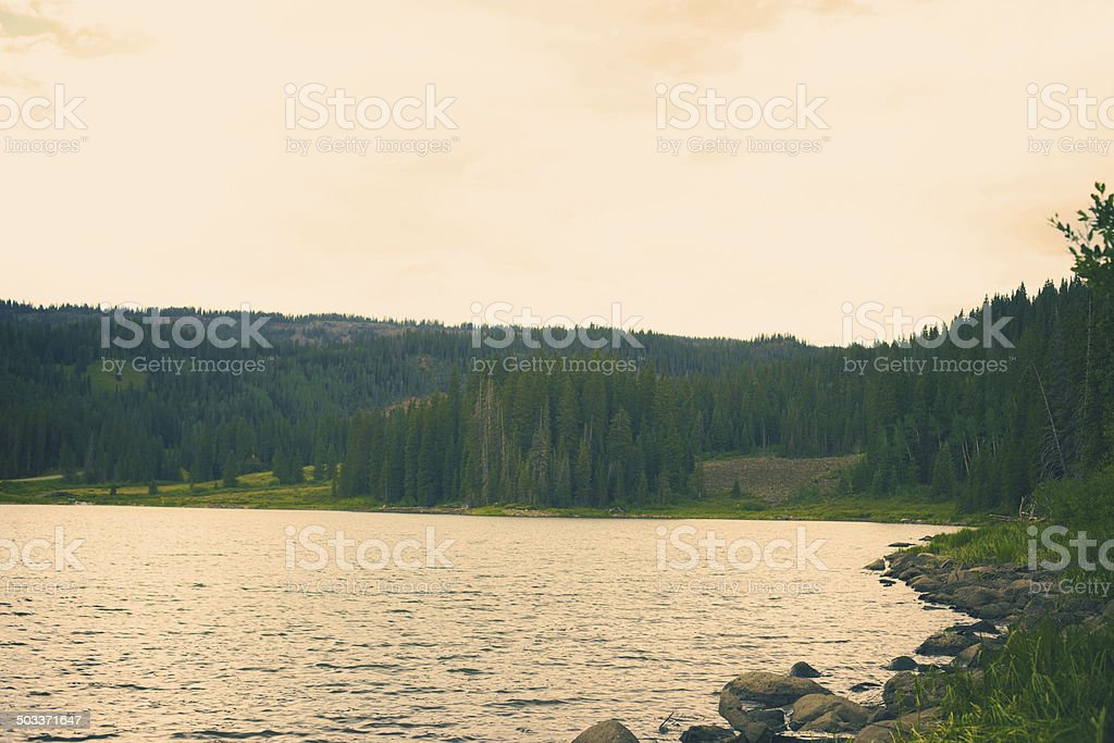 Grand Mesa Colorado Ward Creek Lake stock photo