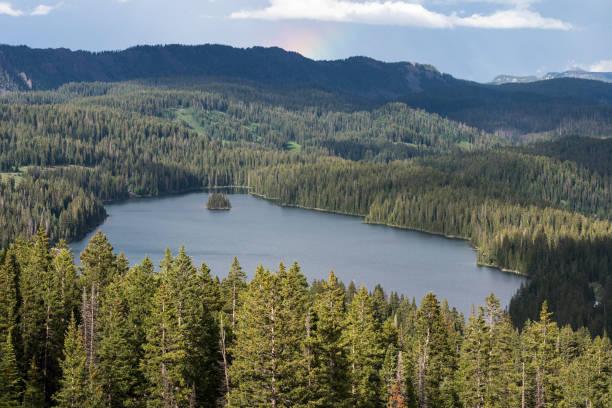 Grand Mesa View and Island Lake, Coloraod stock photo