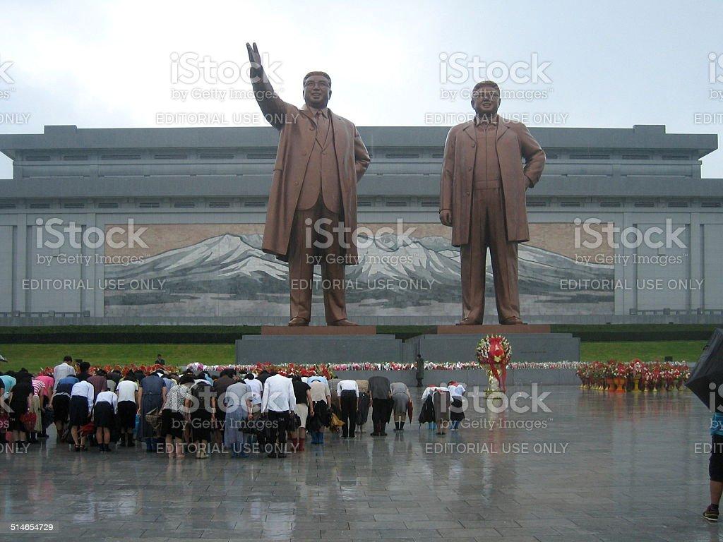 Grand Monument in Pyongyang, North Karea stock photo