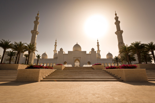 the majestic sheikh zayed bin sultan al nahyan mosque, it is probably the most imposing religious and national landmark in abu dhabi to date.