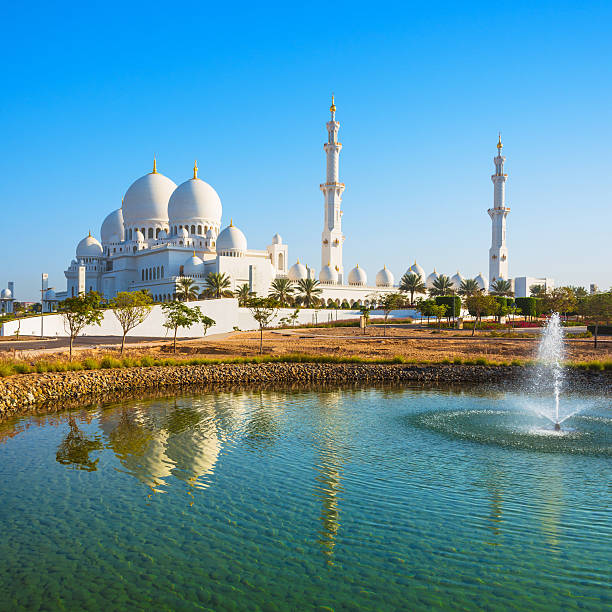 Grand Mosque in Abu Dhabi famous Grand Mosque or Sheikh Zayed Mosque is a mosque which is located in Abu Dhabi, the capital of the United Arab Emirates. grand mosque stock pictures, royalty-free photos & images