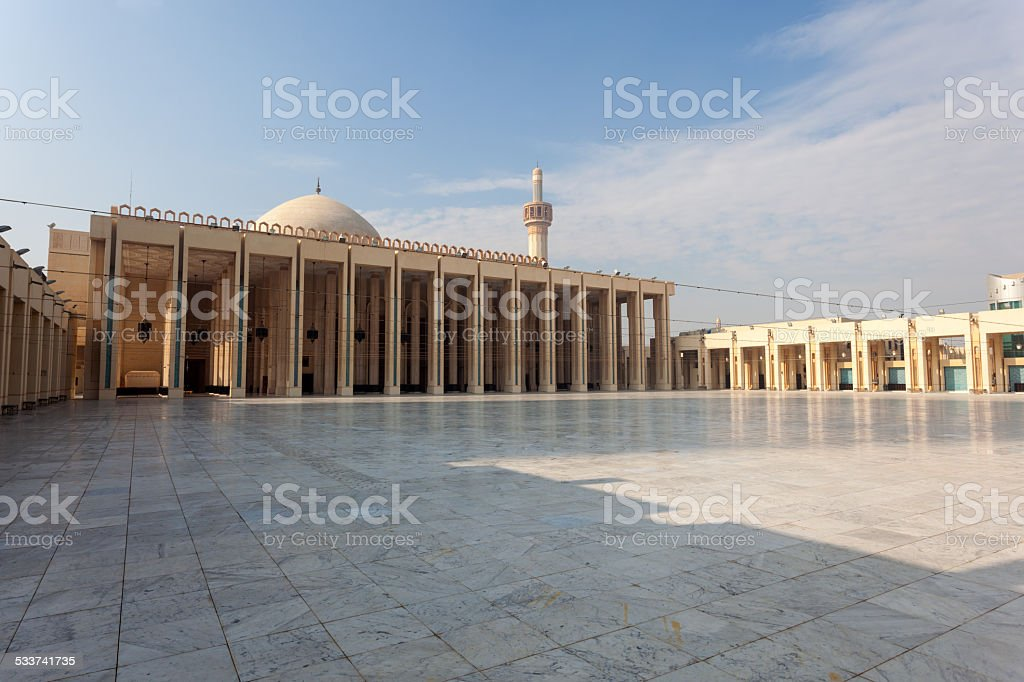 Grand Mosque in Kuwait stock photo