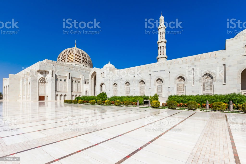 grand mosque in muscat, oman stock photo