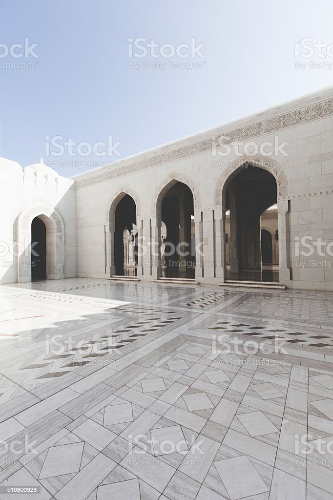 grand mosque muscat oman stock photo