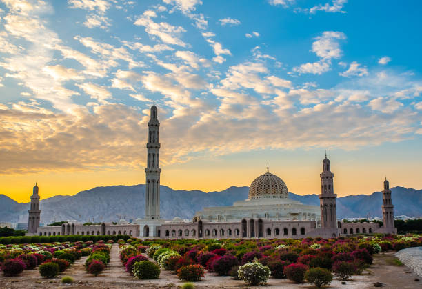 Grand Mosque Muscat Grand mosque at Muscat Oman grand mosque stock pictures, royalty-free photos & images