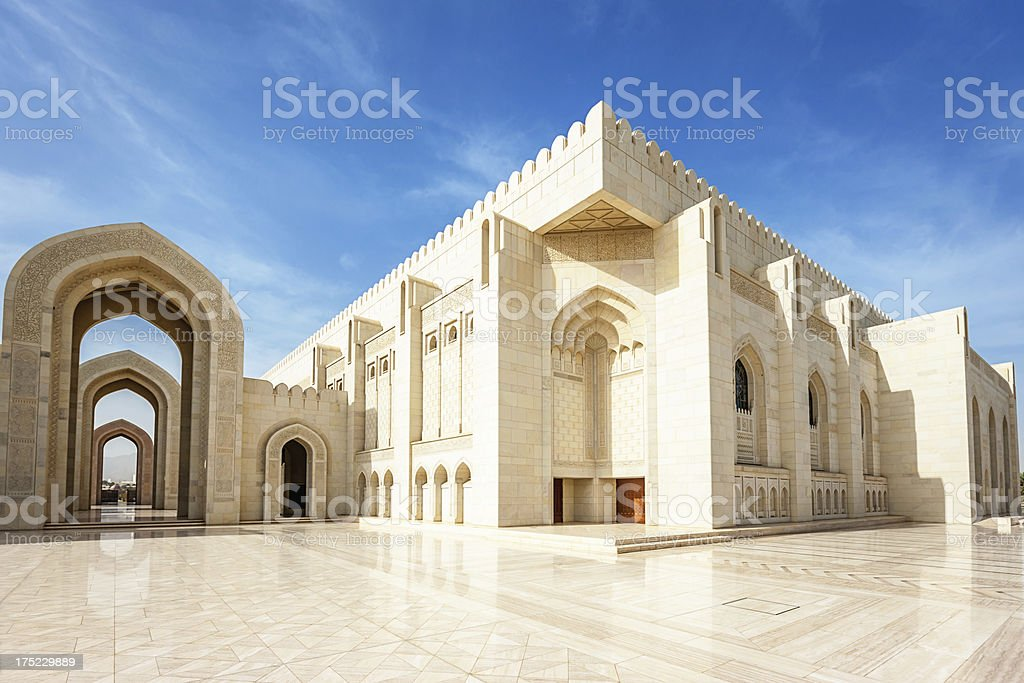 Grand Mosque Sultan Qaboos Prayer Hall,Oman stock photo