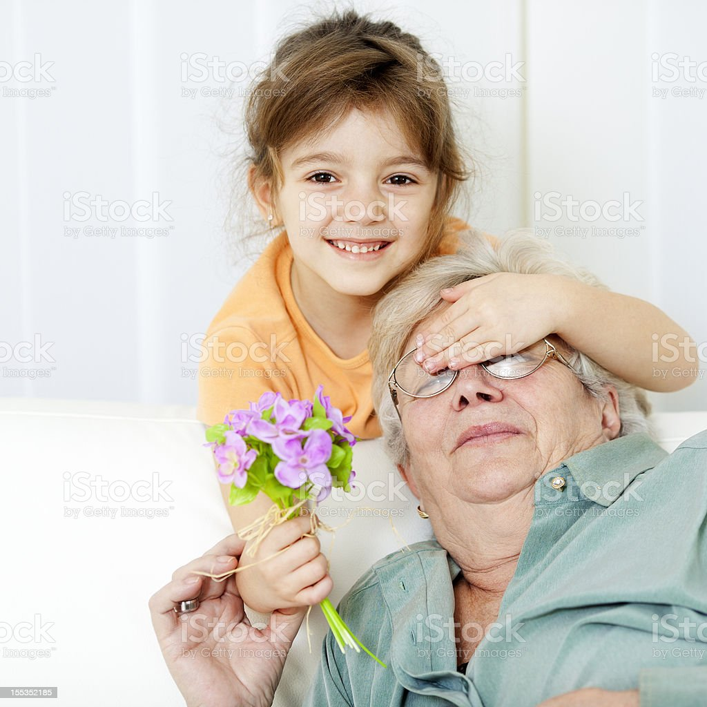 Grand Mothers Day royalty-free stock photo