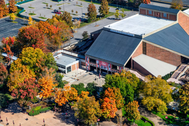 Grand Ole Opry House Aerial stock photo