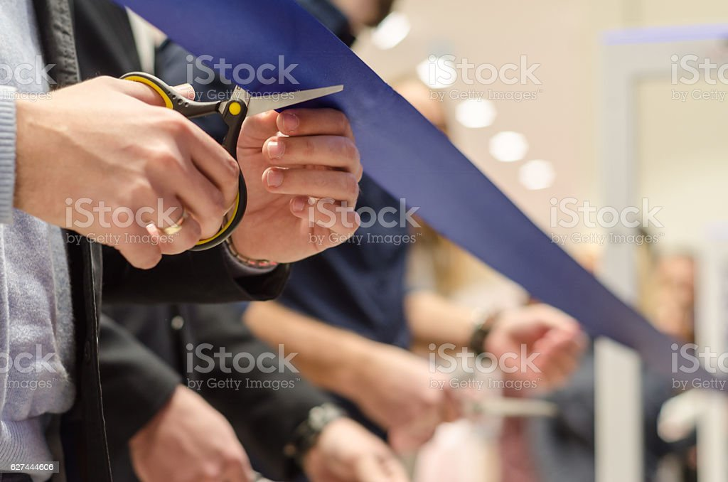 grand opening of new stores - foto de acervo