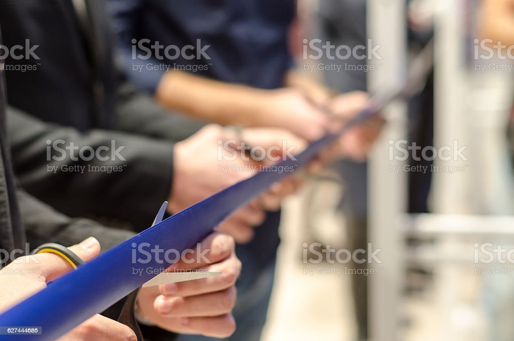 grand opening of new stores stock photo