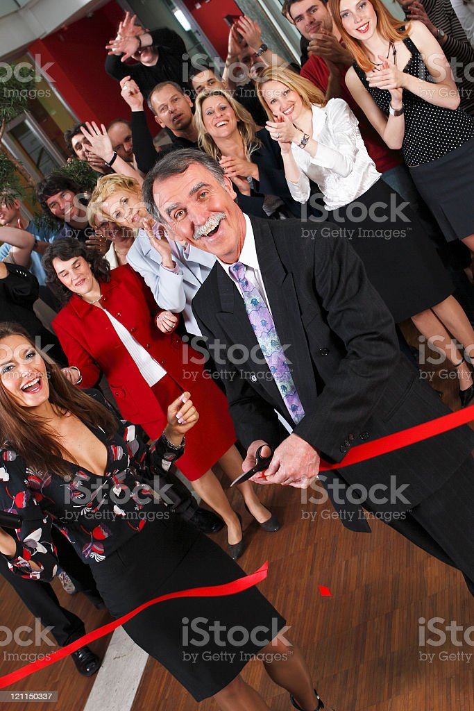 Grand opening royalty-free stock photo