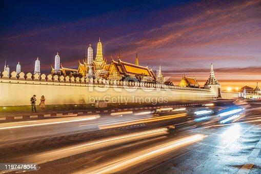 Grand Palace and Wat Phra Kaew in Bangkok, Thailand