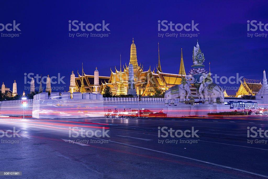 Grand Palace at night stock photo