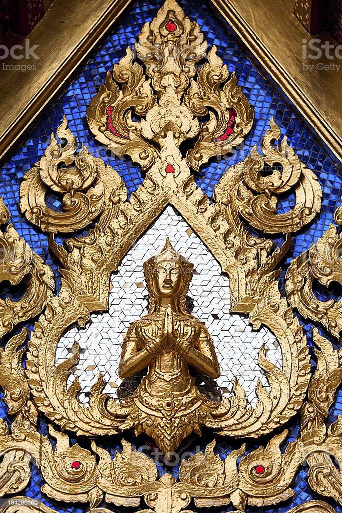 Grand Palace Bangkok, golden detail royalty-free stock photo