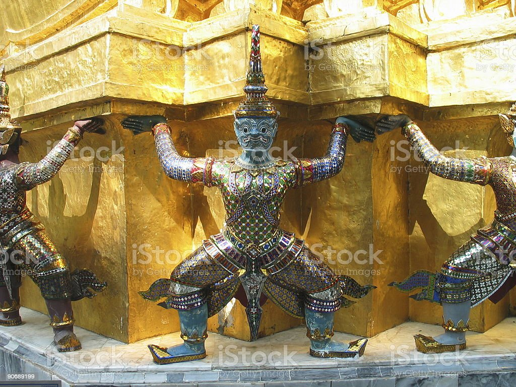 Grand Palace Demons royalty-free stock photo
