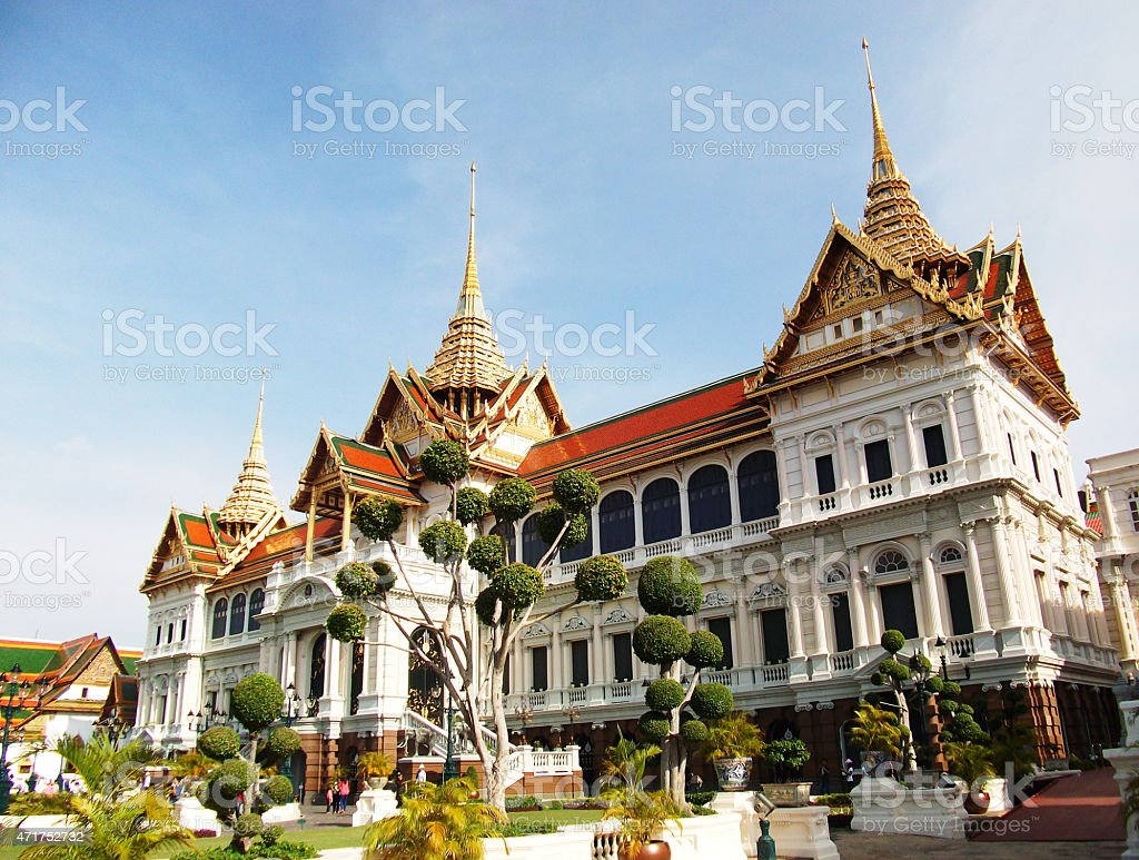 grand palace in Thailand stock photo