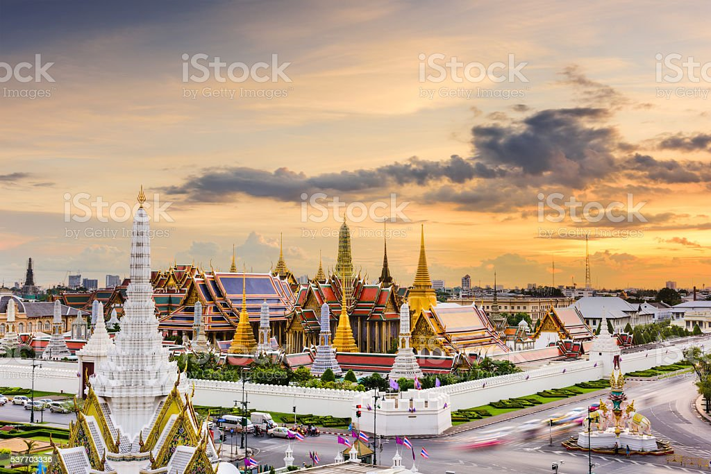 Grand Palace of Thailand stock photo