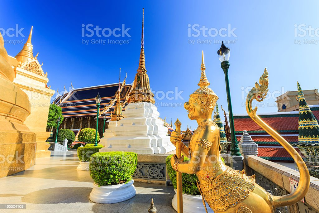 Grand Palace or Temple of the Emerald Buddha stock photo