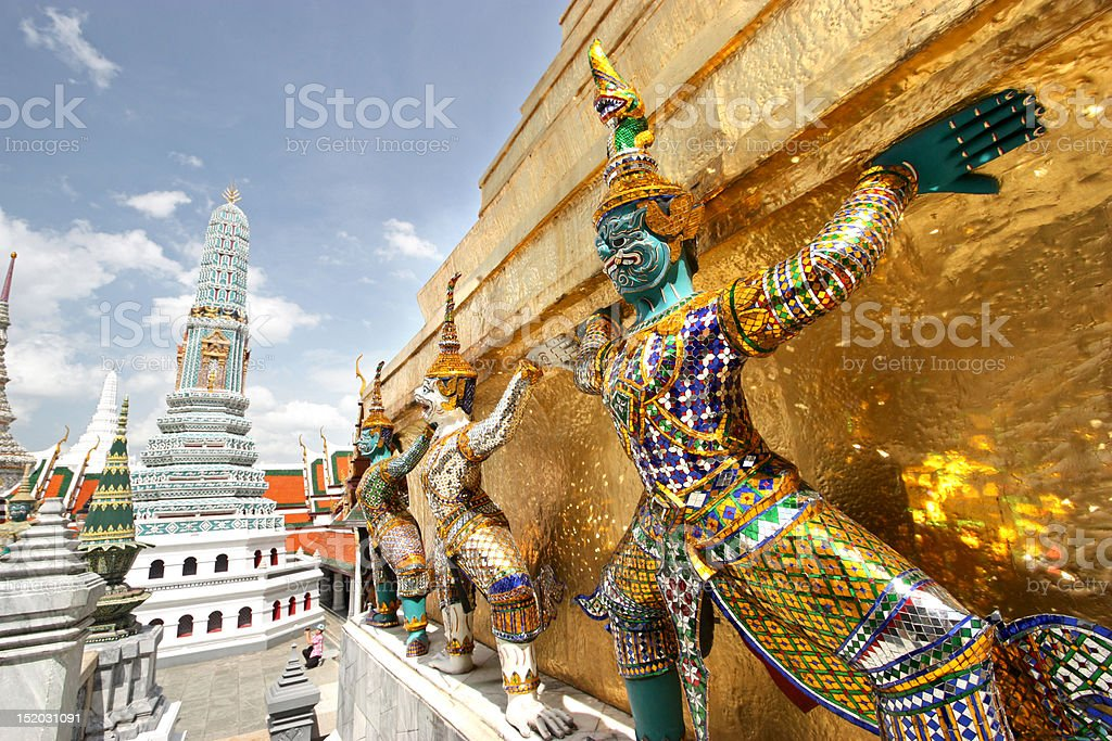 Grand Palace Sculptures royalty-free stock photo