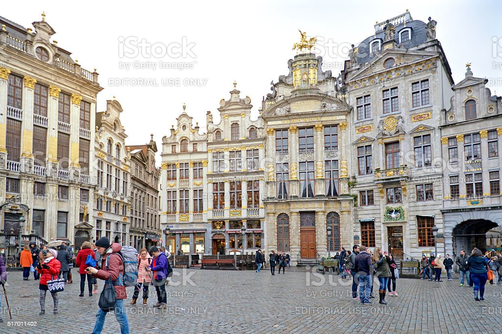 Grand palace square, Brussels stock photo