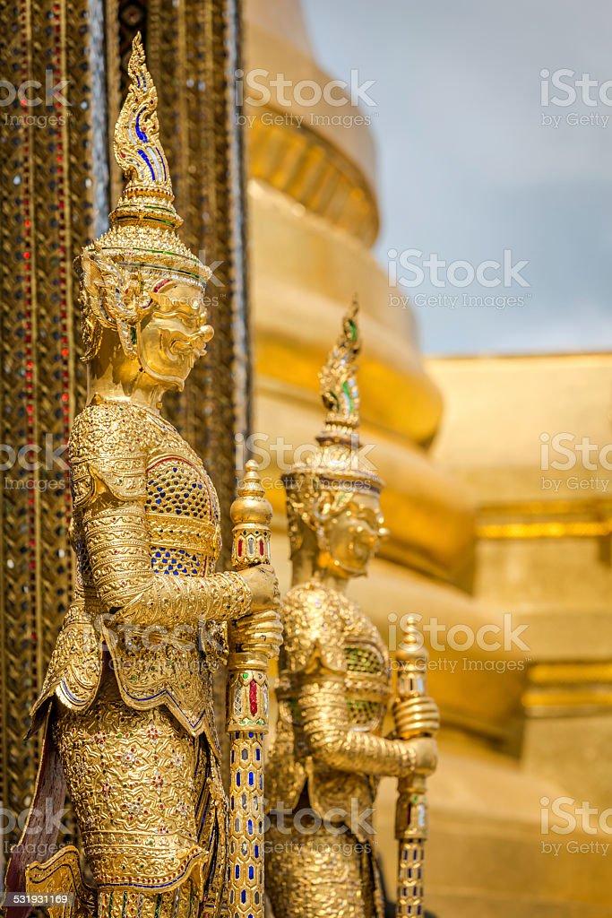 Grand Palace Statues, Bangkok, Thailand stock photo