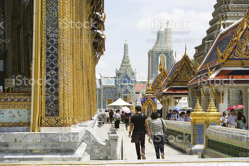 Grand palace temple in Bangkok royalty-free stock photo