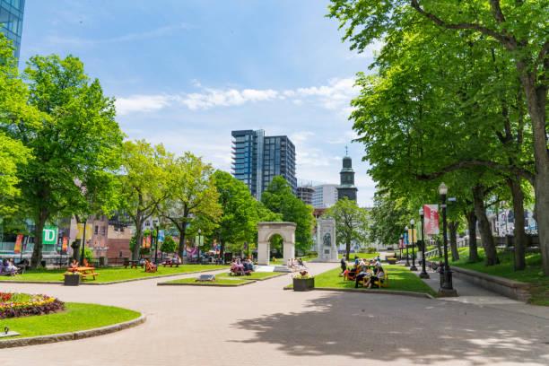 Grand Parade Square in Halifax stock photo