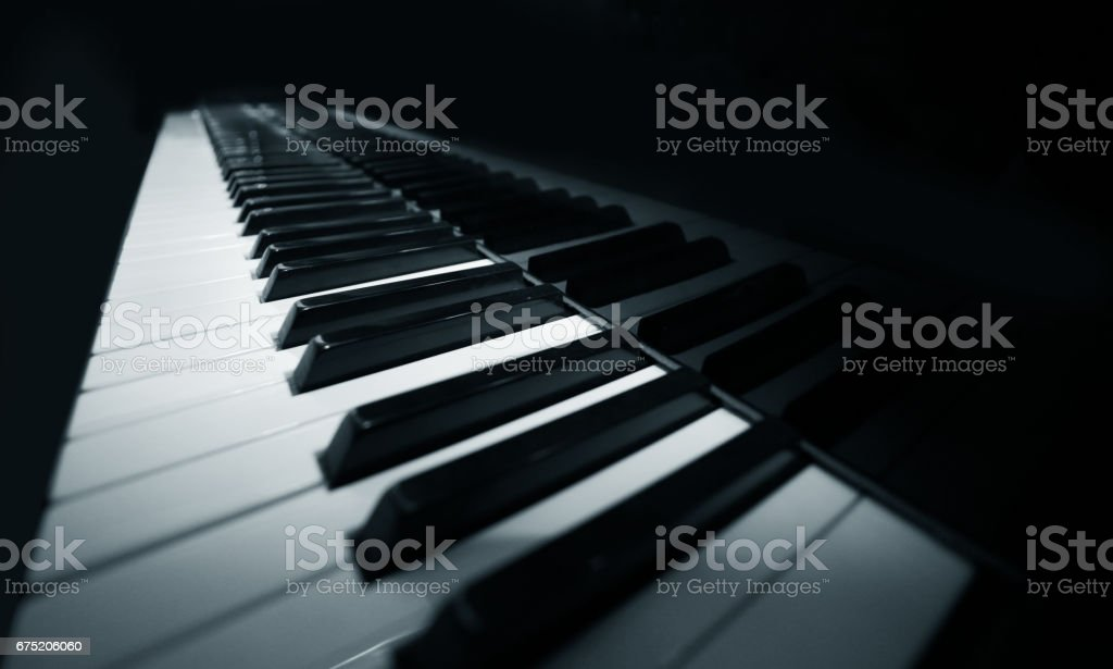 Grand piano ebony and ivory keys royalty-free stock photo