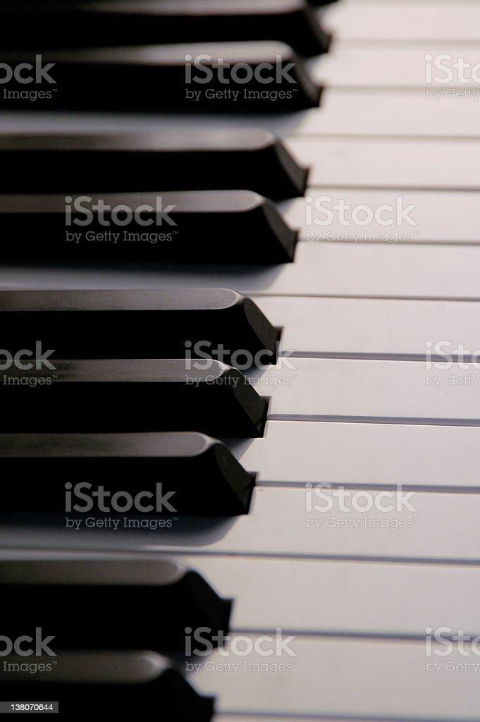 Grand Piano Keys royalty-free stock photo