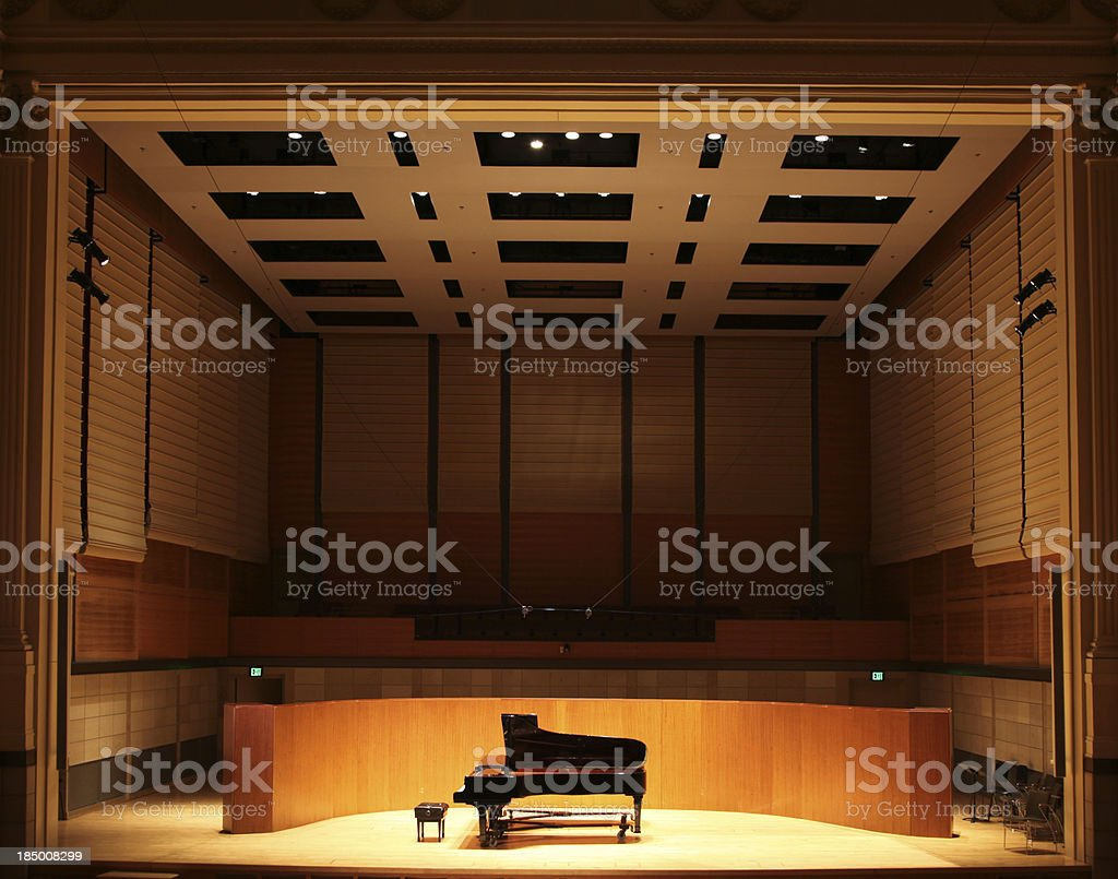 Grand Piano on Stage royalty-free stock photo