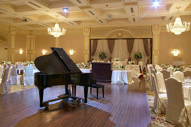 grand piano - entertainment building stock pictures, royalty-free photos & images