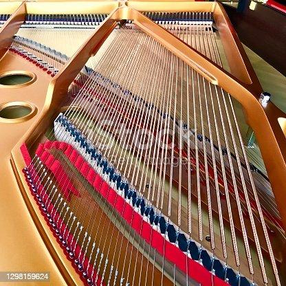 Grand Piano bass strings