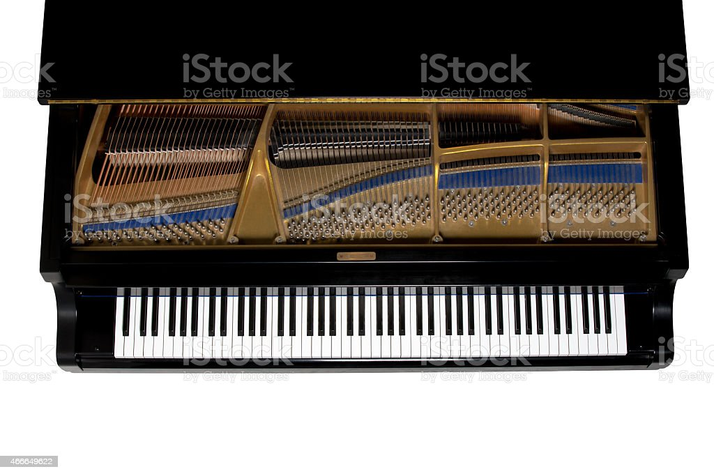 Grand Piano Viewed from Above - Isolated stock photo