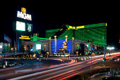 Las Vegas, USA  - September 4, 2007: The MGM Grand Hotel & Casino at night on September 4, 2007 in Las Vegas, Nevada, USA.