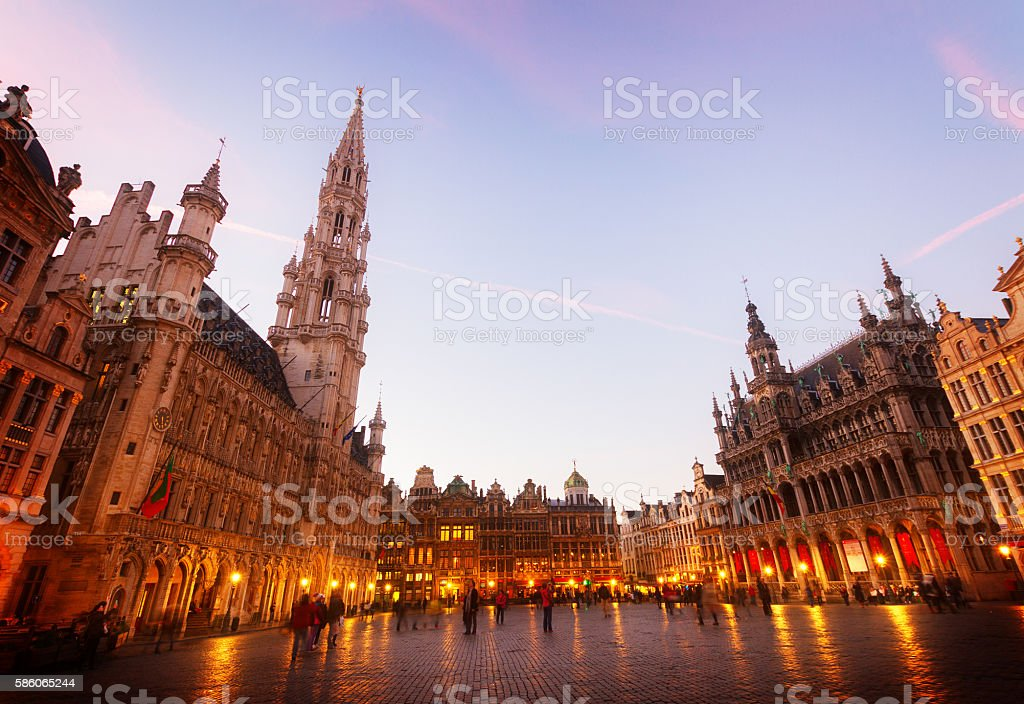 Grand Place And Town Square, Brusseles stock photo