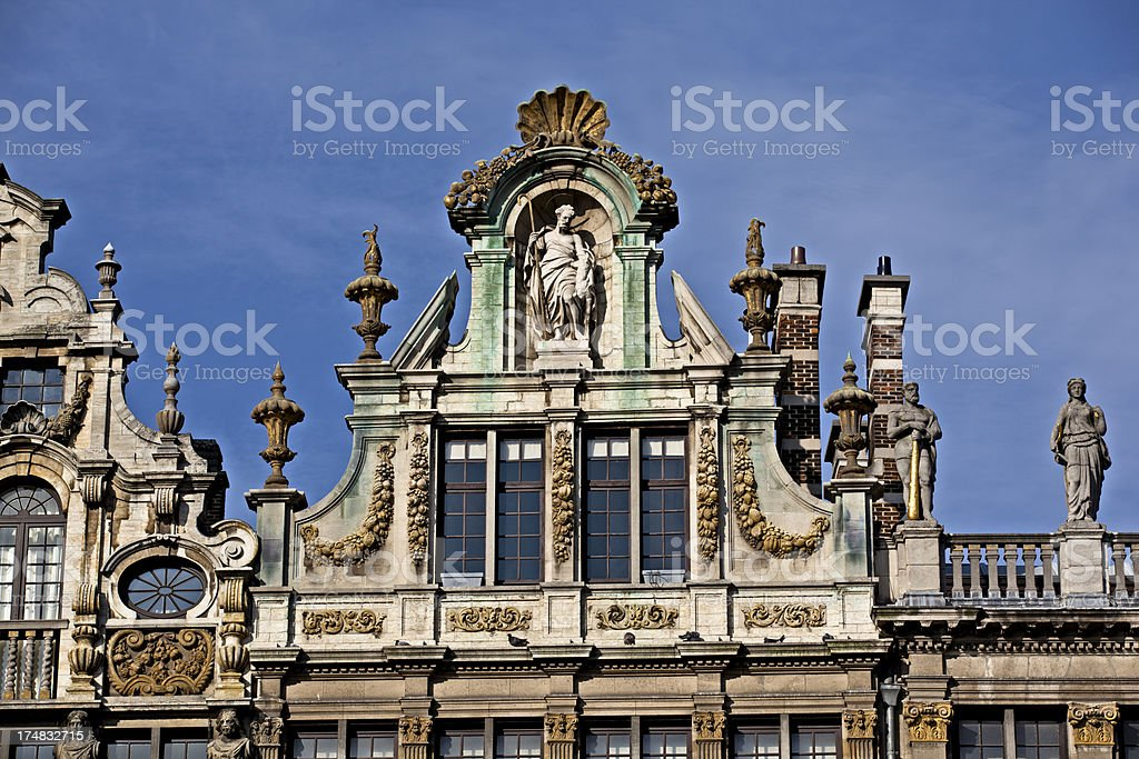 grand place brussels detail stock photo