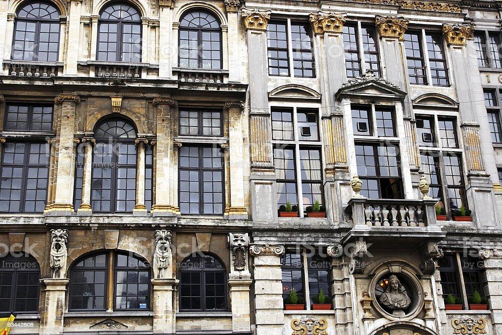 Grand Place Fassade Lizenzfreies stock-foto