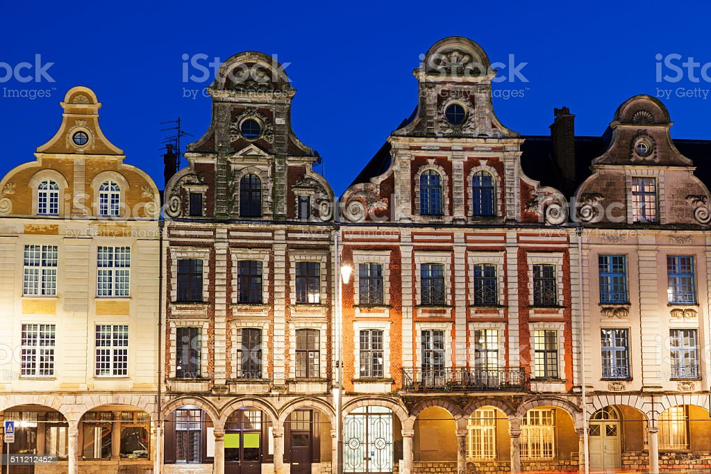 Grand Place in Arras stock photo