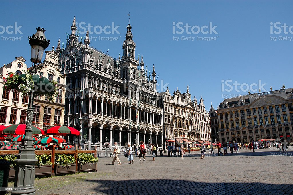 Grand Place in Brussels stock photo