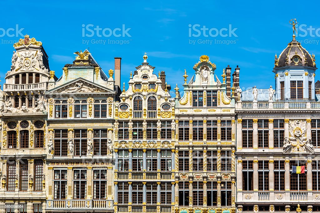 Grand Place in Brussels - Royalty-free Architecture Stock Photo