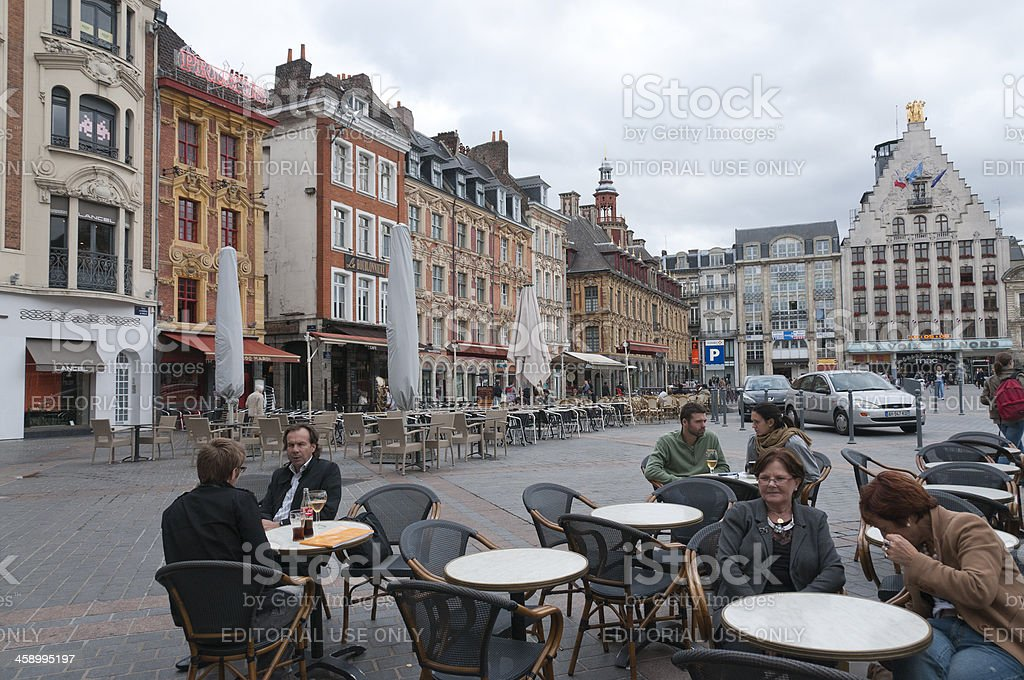 Grand Place of Lille royalty-free stock photo