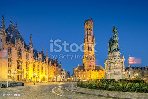 istock Grand Place Square, Bruges, Belgium 1272961891
